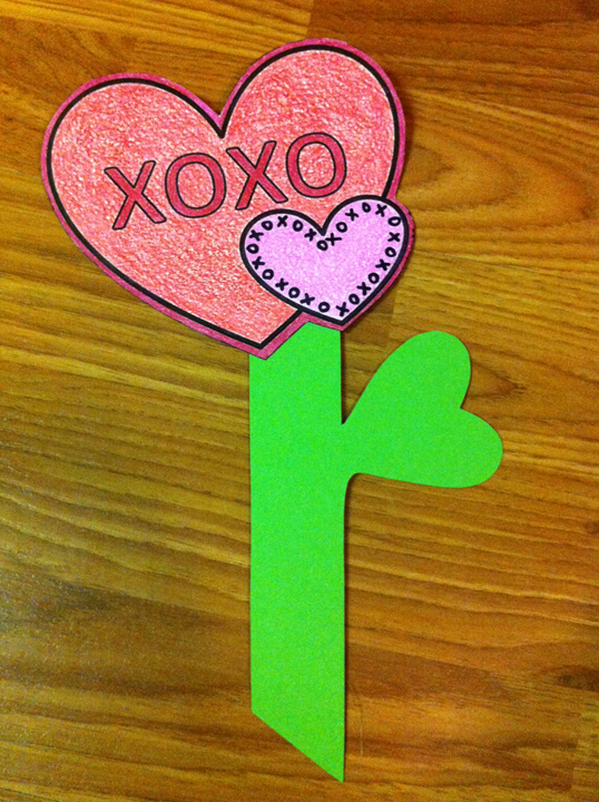 Hugs & Kisses Flower Craft