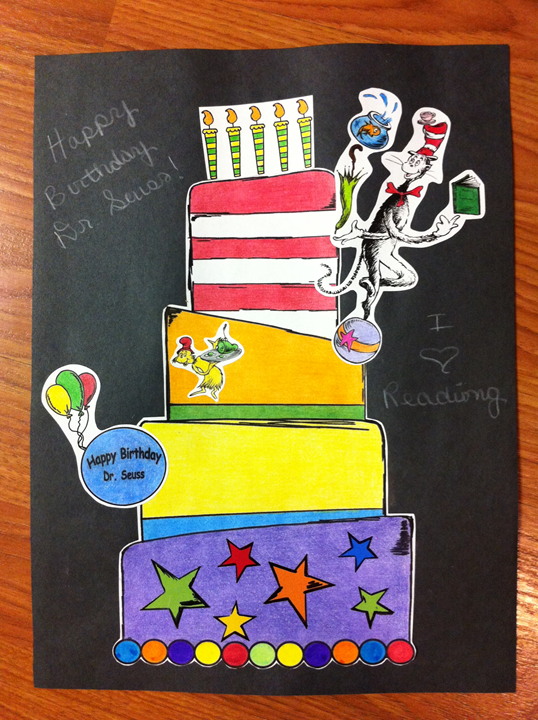 Dr. Seuss Birthday Card Craft