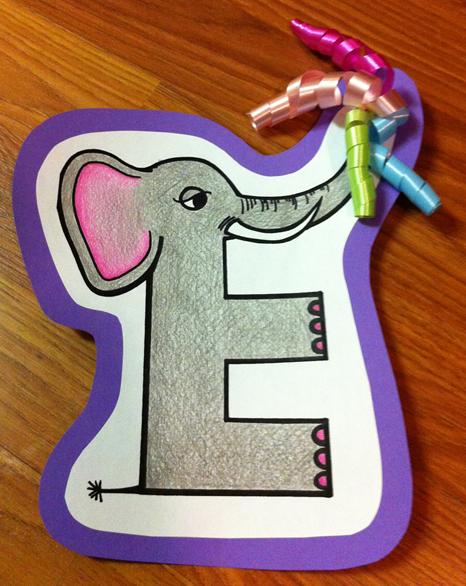 Letter E Elephant Craft