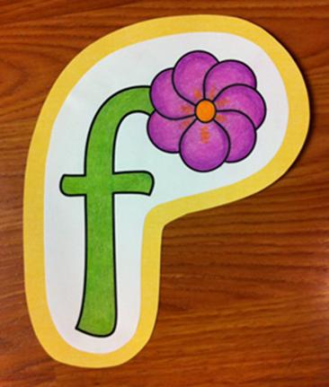 Letter F Flower Craft