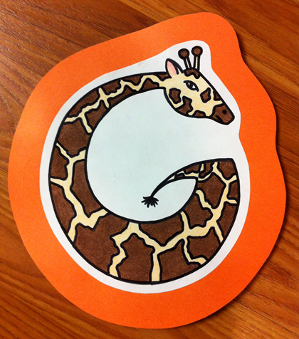 Letter G Giraffe Craft