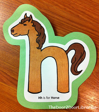 Letter H Horse