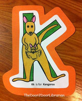 Letter K Kangaroo