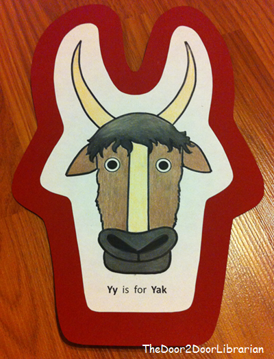 Letter Y Yak