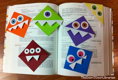 Ya Crafts Monster Bookmarks The Door 2 Door Librarian
