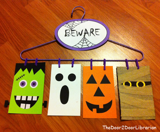 YA Crafts Halloween Door Hanger! & YA Crafts: Halloween Door Hanger! | The Door 2 Door Librarian