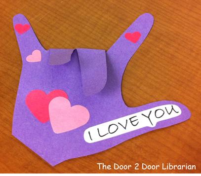 ASL Valentine's Day Craft