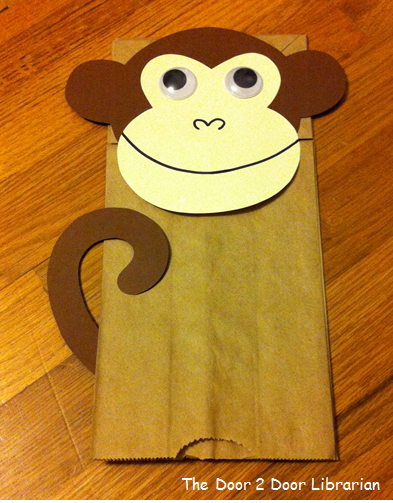 Door 2 door storytime the door 2 door librarian for Brown paper bag crafts for preschoolers