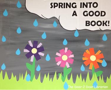 Spring Book Display Sign