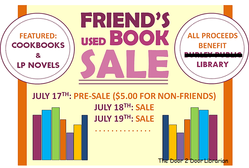 Facebook Friends of the Library Booksale Graphic